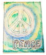 Handmade Card Peace Design Watercolor Blank - $3.00