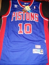 Dennis Rodman Retro Detroit Pistons Jersey Hardwood Classic New With Tag... - $22.95