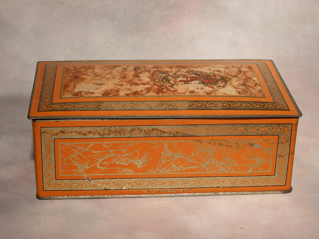 "Primary image for ""Page & Shaw"" Candy Tin Box With Hinged Lid - (SKU#1915)"
