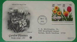 First Day Cover- Garden Flowers Daffodil and Tulip - $8.00