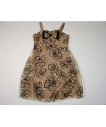 IN GIRL SIZE 12 NEW DRESS SHIMMERY GOLD BLACK SPECIAL OCCASION PORTRAIT ... - $18.50