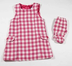 THE CHILDRENS PLACE SIZE 3T 36M GIRLS DRESS SET TCP PINK WHITE CHECK WOO... - $9.25
