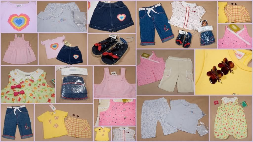 Primary image for BABY GIRLS SIZE 18M LOT 7 NWT OUTFITS ACCESSORIES SPRING SUMMER NEW
