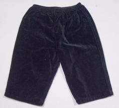 CHARLIE ROCKET GIRLS SIZE 6M 9M PANTS NEW BLACK VELVET 6-9M - $6.72