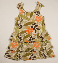 GYMBOREE GIRLS SIZE 5 DRESS SUMMER SAFARI TROPICAL FLOWER FLORAL - $15.98