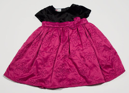 HOLIDAY EDITIONS GIRLS 18M DRESS NEW PINK SPECIAL OCCASION PORTRAIT BLAC... - $15.98