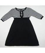 I.N. GIRL SIZE LARGE 10 SWEATER DRESS TUNIC STRIPED STRIPES BLACK & WHITE - $15.98