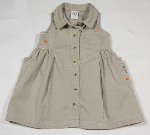 Primary image for BABY GAP INFANT GIRLS SMALL S 3-6M DRESS SAFARI EXPEDITION TIGER SPRING SUMMER
