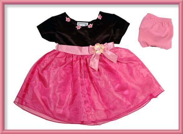 STONE GEAR BABY GIRLS SIZE 18M DRESS NEW SHIMMERY PINK PORTRAIT HOLIDAY FLOWER image 1