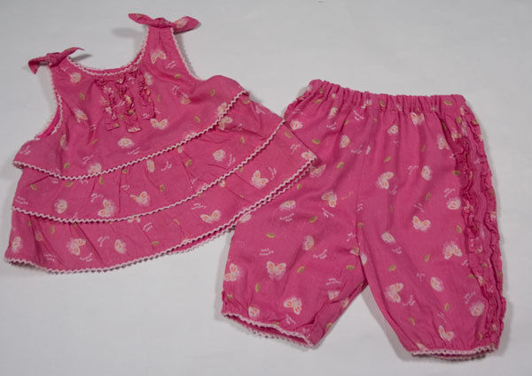Primary image for THE CHILDRENS PLACE GIRLS 3-6M OUTFIT TCP PINK BABY BUTTERFLY TOP PANTS SET