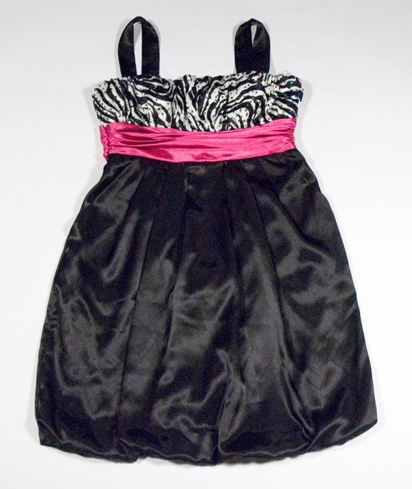 Primary image for CITY TRIANGLES JUNIORS 3 DRESS ZEBRA PRINT PARTY PROM HOMECOMING COCKTAIL PINK