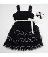 IZ AMY BYER GIRLS 4 DRESS ELEGANT BLACK WHITE SPECIAL OCCASION PORTRAIT ... - $19.34