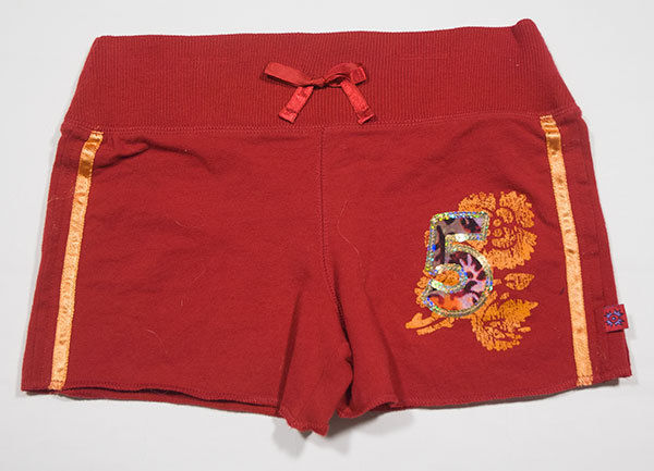 Primary image for NEW COPPER KEY GIRLS SIZE 8 RED SHORTS SEQUINS SPRING SUMMER