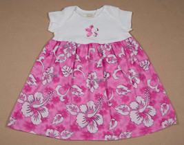 PSKETTI GIRLS SIZE 18M DRESS BOUTIQUE NEW PINK TROPICAL FLOWER FLORAL 18 M - $12.61
