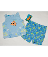DISNEY GIRLS SIZE 12M NWT OUTFIT FINDING NEMO TOP SHORTS SET STARFISH NEW - $15.98