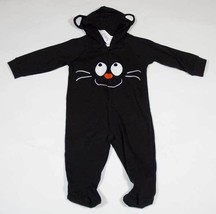 MINIWEAR GIRLS SIZE 0-3M NWT OUTFIT BLACK CAT KITTY HALLOWEEN HOODED OUT... - $12.61