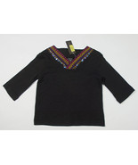 NWT COPPER KEY GIRLS SIZE 6 TOP BLACK ELEGANT EMBROIDERY SEQUINS NEW - $12.61
