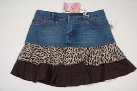 JOLT GIRLS SIZE 12 SKORT NWT DENIM LEOPARD RUFFLED NEW - $18.50