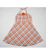 GYMBOREE GIRLS SIZE 6 DRESS ISLAND GETAWAY PLAID HALTER TROPICAL FLOWER ... - $18.50