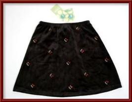 GYMBOREE GIRLS NWT SIZE 4 SKIRT HOLIDAY MAGIC BLACK RED CHERRIES CHERRY ... - $14.30