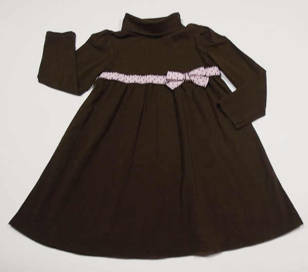 Primary image for GYMBOREE GIRLS SIZE 5 DRESS SWEETER THAN CHOCOLATE BROWN PINK POLKA DOTS BOW