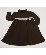 GYMBOREE GIRLS SIZE 5 DRESS SWEETER THAN CHOCOLATE BROWN PINK POLKA DOTS... - $12.61