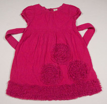 OLD NAVY GIRLS SIZE 4T DRESS HOT PINK TULLE RUFFLES FLOWERS - $13.45