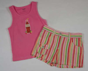 Primary image for GYMBOREE GIRLS SIZE 4 TOP & SHORTS SET CHERRY BABY SODA POP SHIRT STRIPED SHORTS