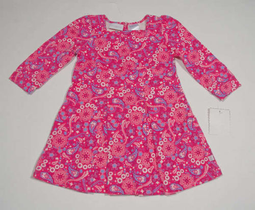 Primary image for LIZ CLAIBORNE GIRLS 18M DRESS NWT PINK PAISLEY CAPE COD COLLECTION PREPPY NEW