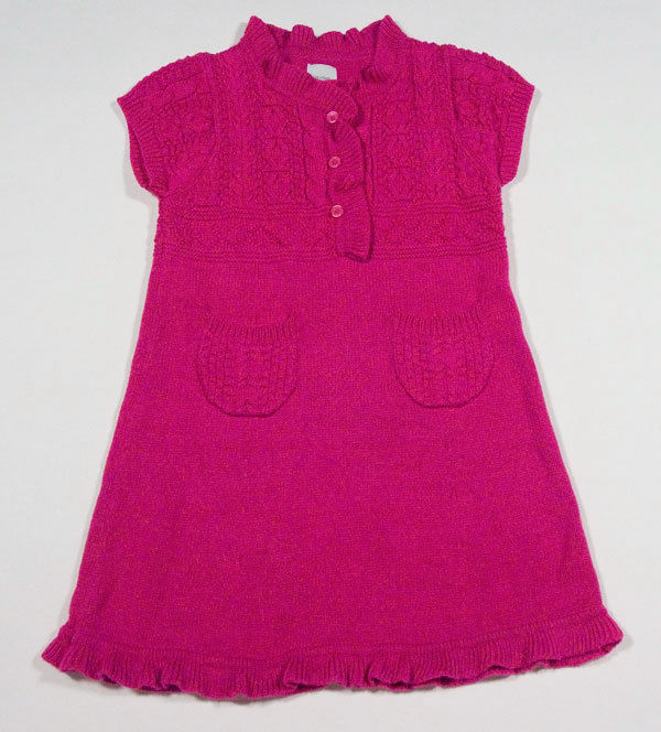 BABY GAP GIRLS SIZE 18M 24M PINK SWEATER DRESS CHELSEA COLLECTION 18-24M