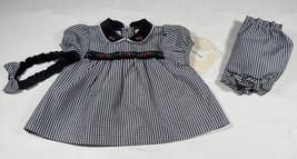 LITTLE BITTY GIRLS DRESS SET 6-9M NWT HOLIDAY SPECIAL OCCASION PORTRAIT NEW - $15.98