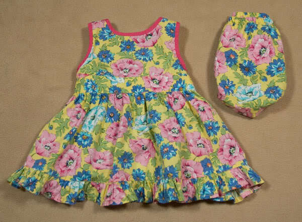 AMERICAN LIVING BABY GIRLS 6M DRESS SET YELLOW PINK BLUE FLORAL FLOWER