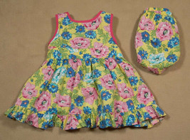 AMERICAN LIVING BABY GIRLS 6M DRESS SET YELLOW PINK BLUE FLORAL FLOWER - $10.09