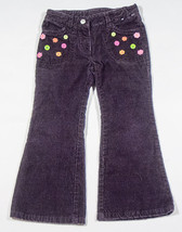 GYMBOREE GIRLS SIZE 4  PANTS ALL ABOUT BUTTONS PURPLE CORDUROY - $15.98