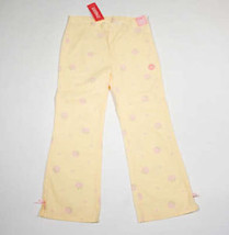 GYMBOREE GIRLS SIZE 9 NWT PANTS GARDEN BLOOM YELLOW PINK FLORAL FLOWERS NEW - $19.34