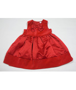 CARTERS GIRLS SIZE 12M DRESS RED VELVET BOW CHRISTMAS HOLIDAY SPECIAL OC... - $12.61
