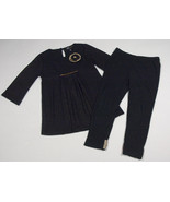 ABS KIDS BY ALLEN SCHWARTZ GIRLS 3T OUTFIT BLACK & GOLD TOP PANTS SEQUIN... - $21.03