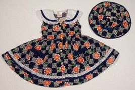 MI-NI-NA GIRLSIZE 3 DRESS & HAT SET FLOWER FLORAL SPRING SUMMER 3T - $12.61