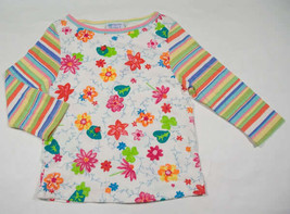 FRESH PRODUCE GIRLS M 7-14 TOP NEW BOUTIQUE FLOWERS FLORAL LADYBUG STRIPES - $8.41