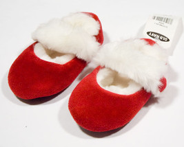 OLD NAVY NWT GIRLS 12M 18M SHOES CHRISTMAS HOLIDAY SANTA RED WHITE FAUX FUR - $8.41