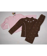 NWT COPPER KEY GIRLS SZ 2T OUTFIT BROWN PINK FRENCH POODLE JACKET TOP PA... - $21.03