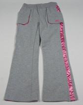 SKECHERS GIRLS SIZE 6 SWEAT PANTS SWEATS PINK GRAY RHINESTONES NEW - $10.09