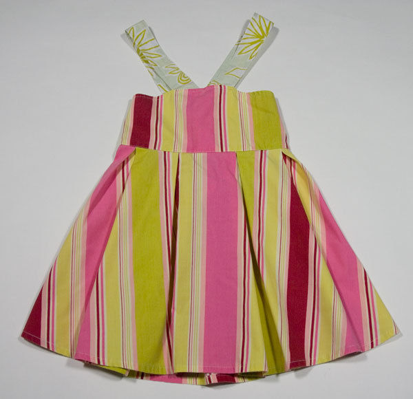 Primary image for AVA LOVES OLLI GIRLS SIZE 3T DRESS STRIPED PINK GREEN STRIPES