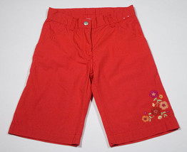 GYMBOREE GIRLS SIZE 6 NEW CROPPED CAPRI PANTS RED FLORAL FLOWERS - $14.30