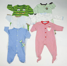 Boys Size 3 M 6 M Sleepers Lot 6  Pj's  Pajamas  Footed Carters 0 6 M - $25.24
