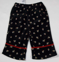 THE CHILDRENS PLACE NWT SIZE 6-9M PANTS TCP BLACK VELVET FLORAL NEW 6M 9M - $10.09
