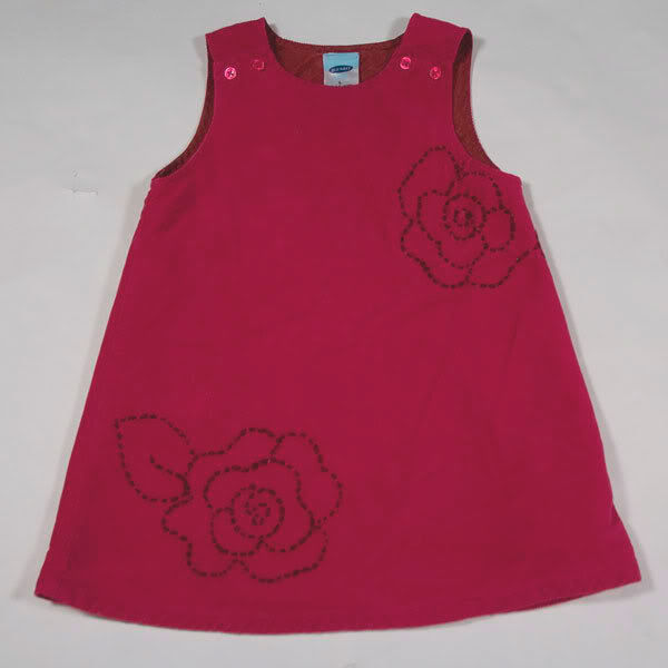 Primary image for OLD NAVY BABY GIRLS 12-18M DRESS EMBROIDERED PINK ROSES FLOWERS FLORAL 12M 18M