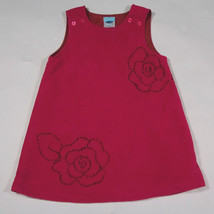 OLD NAVY BABY GIRLS 12-18M DRESS EMBROIDERED PINK ROSES FLOWERS FLORAL 1... - $8.41