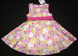POLLY & FRIENDS GIRLS SIZE 2T DRESS NWT PINK SPRING FLORAL BOUQUET EASTE... - $18.50