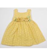 MARC & MADDIE GIRLS SIZE 18 24M DRESS YELLOW EYELET SPRING SUMMER EASTER... - $12.61